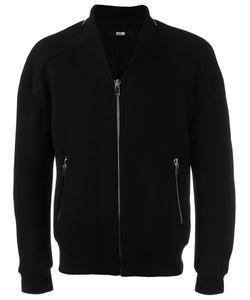 SYSTEM HOMME | Zipped Bomber Jacket Medium Polyurethane/Wool