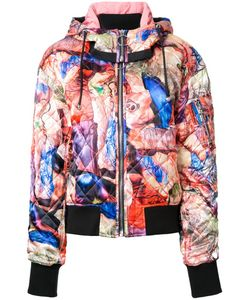 NICOPANDA | Multiple Prints Quilted Bomber Large Polyester/Spandex/Elastane