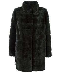 Arma | Concealed Front Fastening Coat 36 Mink Fur/Cashmere