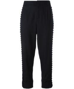A.F.Vandevorst | Pinstripe Cropped Trousers 42 Virgin Wool/Lyocell