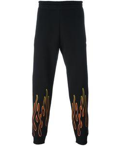Omc | Flame Print Track Pants Small Cotton