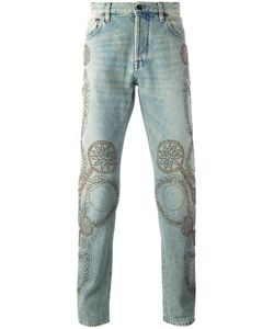 Valentino | Studded Straight-Leg Jeans 29 Cotton/Polyester