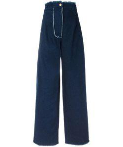 Natasha Zinko   High-Rise Wide-Legged Jeans 36 Cotton