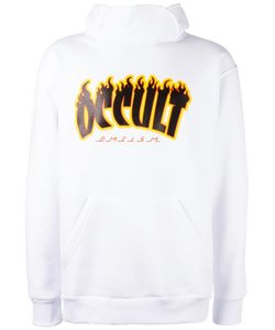 Omc | Flame Print Hoodie Medium Cotton