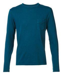 Officine Generale   Chest Pocket Longsleeved T-Shirt Medium Cotton