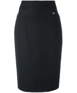 Cavalli Class | Classic Pencil Skirt 40 Virgin Wool/Polyamide/Cashmere/Polyester