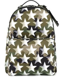 Valentino | Star Print Camouflage Backpack Nylon/Leather