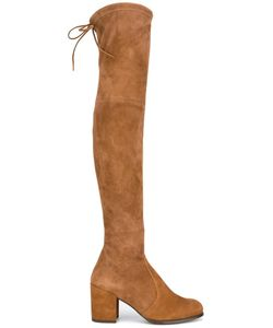 Stuart Weitzman | Tieland Boots 38.5 Rubber/Suede/Leather
