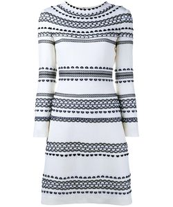Huishan Zhang   Estella Shift Dress 12 Wool/Silk/Polyester/Nylon