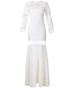 Huishan Zhang   Faye Fishtail Gown 8 Wool/Nylon/Polyurethane/Silk
