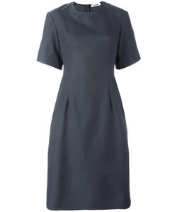 Jil Sander | Shortsleeved Midi Dress 36 Silk/Polyamide