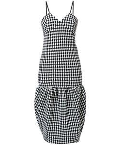Victoria Beckham | Checked Midi Dress 8 Spandex/Elastane/Wool