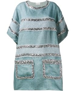Faith Connexion | Sequin Embellished Dress Size 38 Linen/Flax/Cotton/Polyester