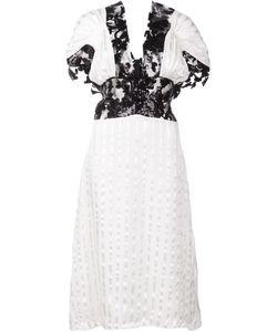 Rodarte | Lace Insert Dress 6 Silk/Polyester