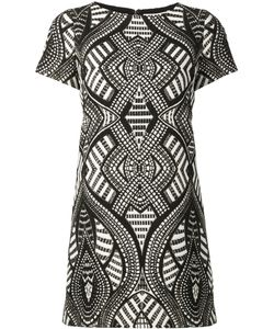 Alice + Olivia | Geometric Pattern Mini Dress 10 Acrylic/Polyester/Spandex/Elastane