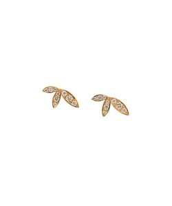 JAGGA | 18kt Lily Stud Earrings