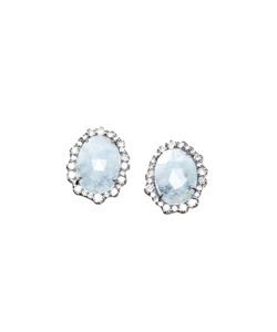 KIMBERLY MCDONALD | Aquamarine And Diamond Stud Earrings