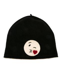 LE CHAPEAU   Emoji Motif Beanie Wool