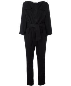 CAROLINARITZ | Boat Neck Belted Jumpsuit 40 Polyamide/Cashmere/Wool