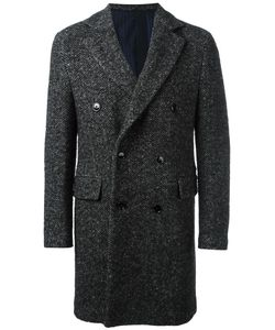 MP MASSIMO PIOMBO | Double Breasted Coat 50 Cupro/Wool/Mohair/Polyamide