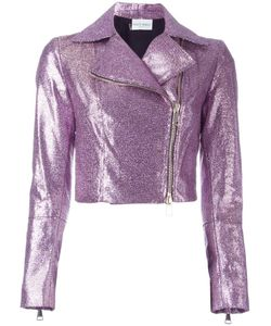 Daizy Shely   Cropped Biker Jacket 40 Cotton/Other Fibers/Acetate