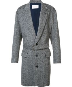 Julien David | Belted Coat Large Nylon/Cashmere/Wool