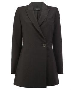Ellery | Wrap Front Coat 8 Silk/Wool/Nylon/Spandex/Elastane