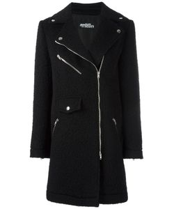 Jeremy Scott | Off-Centre Zipped Coat 42 Virgin Wool/Mohair/Polyamide/Acetate