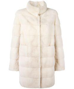 Arma | Concealed Front Fastening Coat 36 Cashmere/Mink Fur