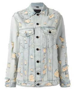 Alexander Wang | Distressed Denim Jacket Xs Cotton