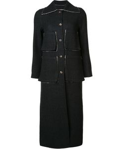 SONG FOR THE MUTE   Striped Coat 34 Cotton/Wool