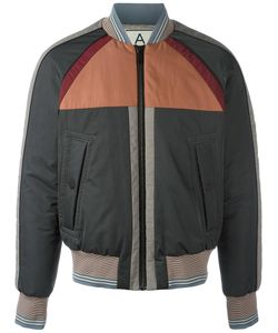 Andrea Pompilio | Striped Detailing Bomber Jacket 50 Polyester