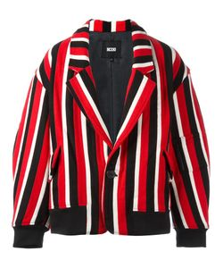 Ktz | Striped Tailored Bomber Jacket Medium Wool/Cupro