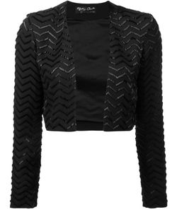 Alice + Olivia | Zigzag Pattern Cropped Jacket 8 Silk