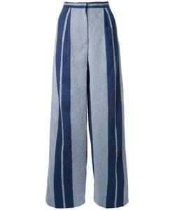 Muller Of Yoshiokubo | Striped Wide Leg Trousers 36