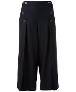Cedric Charlier | Cédric Charlier Wide Leg Cropped Trousers 36 Virgin