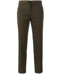 Etro | Jacquard Trousers 36 Polyester/Cotton/Spandex/Elastane