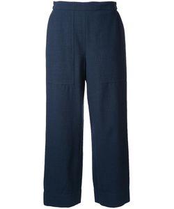LEMAIRE   Cropped Trousers 34 Elastodiene/Virgin Wool
