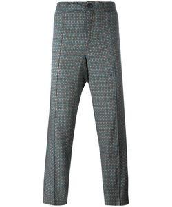 Emiliano Rinaldi | Geometric Pattern Cropped Trousers 48 Viscose/Cupro