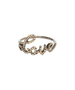ROSA DE LA CRUZ | Love 18kt Oxidised And Diamond Ring