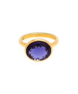 MARIE HELENE DE TAILLAC | 22k Iolite Ring