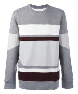 SYSTEM HOMME | Striped Jumper Large Polyester/Rayon