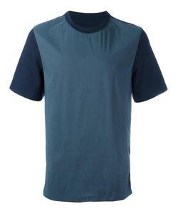 SYSTEM HOMME | Bicolour T-Shirt Small Cotton/Nylon/Polyurethane