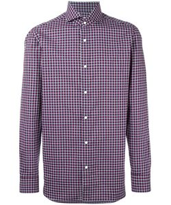 BORRELLI | Spread Collar Plaid Shirt 42 Cotton
