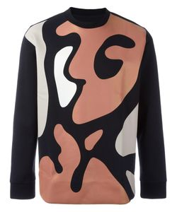 SYSTEM HOMME | Abstract Print Sweatshirt Medium Cotton/Rayon