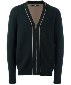 SYSTEM HOMME | Zipped Cardigan Small Polyurethane/Wool