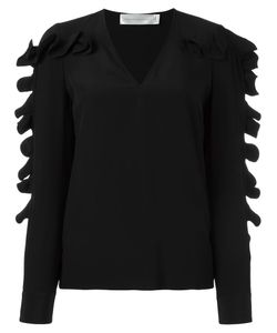 Victoria, Victoria Beckham | Victoria Victoria Beckham Frill Trim Blouse Large Silk/Polyester
