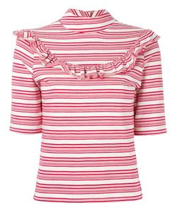 FLEAMADONNA | Ruffled Striped Top Medium Cotton