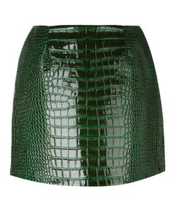FLEAMADONNA | Crocodile Effect Skirt Small Pvc/Polyester