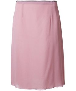 Agnona | Classic Pencil Skirt 40 Silk/Spandex/Elastane